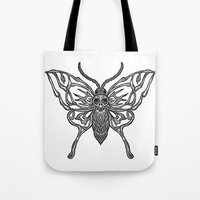 Skeleton Moth Tote Bag