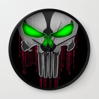 Punisher Spawn Mash-Up Wall Clock