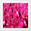 Hot Pink Ornaments Art Print
