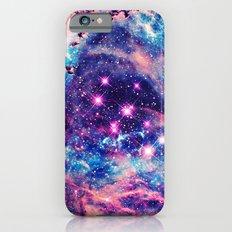 Trendy Pastel Pink Blue Nebula Girly Stars Galaxy iPhone 6 Slim Case