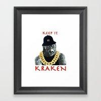 KEEP IT KRAKEN Framed Art Print