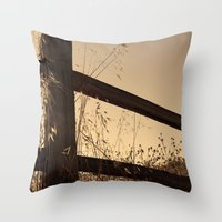 Broken Fence Throw Pillow