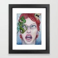 On Her Mind Framed Art Print