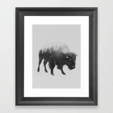 Bison (black & White Ver… Framed Art Print