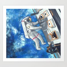 Space Walker Art Print