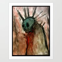 Wretched Zombie Filth Art Print