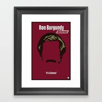 Ron Burgundy: Anchorman Framed Art Print