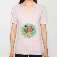 The Pond Lovers - Mr. Froggy and Ms Goldfish Unisex V-Neck