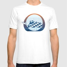 Whale Migration Mens Fitted Tee White SMALL