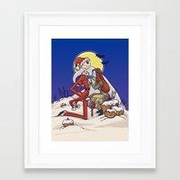 The Holiday Hero Framed Art Print