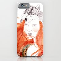 iPhone & iPod Case featuring Wolf Girl by Michelle Pegrume
