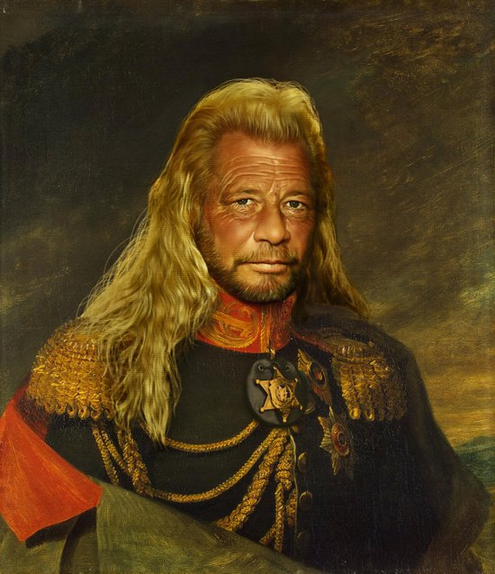 Duane 'Dog' Chapman - replaceface Art Print