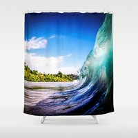 Wave Wall Shower Curtain