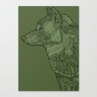 Enthusiastic Wolf Canvas Print