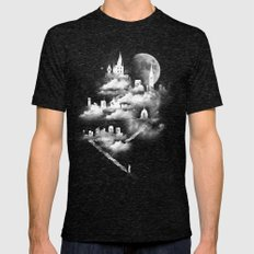 STAIRWAY TO HEAVEN Mens Fitted Tee Tri-Black SMALL