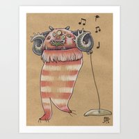 MUSIC MONSTER Art Print