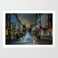 Wet Morning In Kemp Town Art Print
