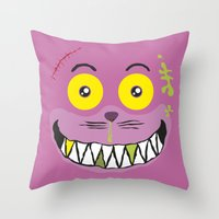 Smilezz / Cheshire Cat Throw Pillow