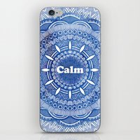 Calming Serenity Blue Mandala iPhone & iPod Skin