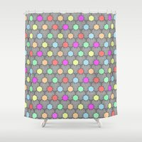 Careless Woman Pattern V… Shower Curtain