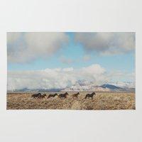 Running Reservation Horses Rug