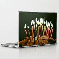 happy birthday Laptop & iPad Skins featuring Happy Birthday by Thomas Eppolito