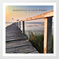 Ps 139:14 Marvelous are your works Art Print
