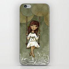 Hannah on a Swing iPhone & iPod Skin