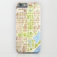 Washington DC watercolor city map iPhone 6 Slim Case