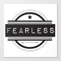 #Fearless Canvas Print