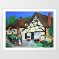 Old Village  Art Print