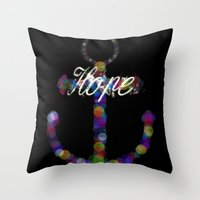 It anchors the soul Throw Pillow
