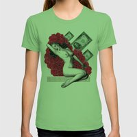 MARILYN Womens Fitted Tee Grass SMALL