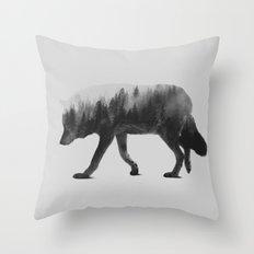 The Wolf (black & White … Throw Pillow