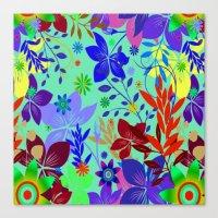 Flowers Explosion Canvas Print