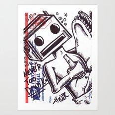 Never Too Drunk Art Print