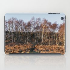 Birch trees basked in warm light at sunset. Upper Padley, Derbyshire, UK. iPad Case