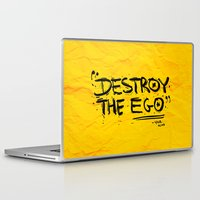 Laptop & iPad Skin featuring Destroy the Ego by Lee Grace Illustration