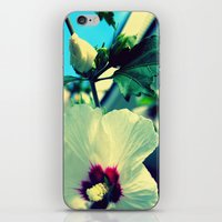 tiki flower with bud ~ flower photography iPhone & iPod Skin