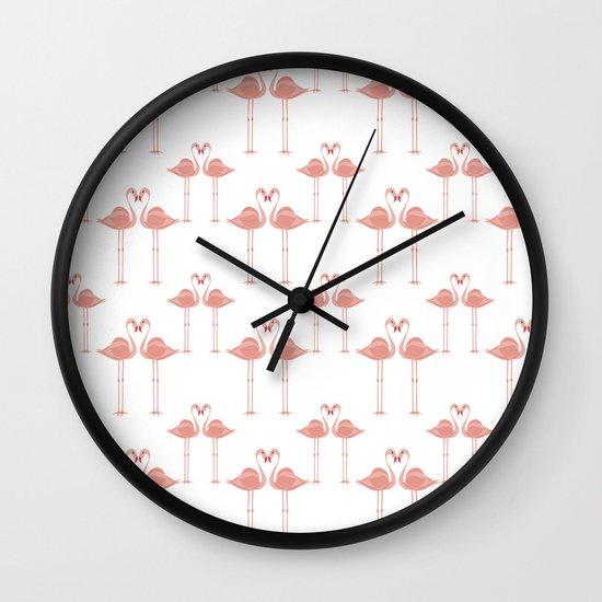 Lovebirds - Flamingo - Valentines Day - Tropical birds - Lovers Wall Clock