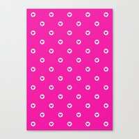 Little pink hearts Canvas Print
