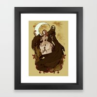 Death and the Maiden Framed Art Print