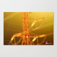 Energy In Gold Canvas Print