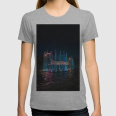 Night Fountain Womens Fitted Tee Athletic Grey SMALL