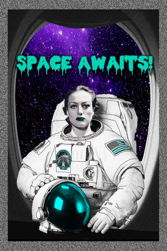 SPACE AWAITS JOAN CRAWFORD Art Print