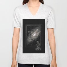 Looking Through a Masterpiece Unisex V-Neck