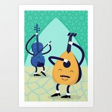 Arabic tunes Art Print
