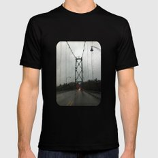 Raining Again  Mens Fitted Tee Black SMALL