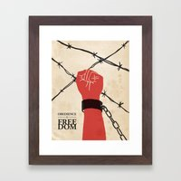 OBEDIENCE is FREEDOM - two Framed Art Print