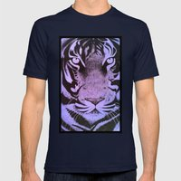 Be A Tiger (Purple) Mens Fitted Tee Navy SMALL
